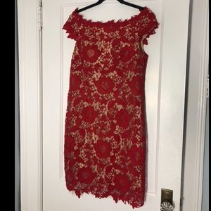 Hot Red Lace Size 12 Dress